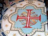 the templars cross on the chapel floor