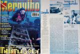 Capa da edição e fotos do Naufragio Thistlegorm no Mar vermelho/Egito. O texto escrito por Paul Boufis foi baseado em pesquisa sobre o naufrágio em questão realizada durante minha expedição ao Mar Vermelho em junho de 1997.