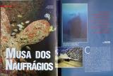 Fotos da matéria Musa dos Naufrágios sobre o mergulho em naufrágios do Recife
