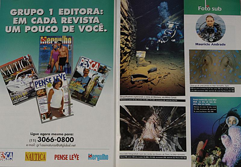 Revista Mergulho Nº56 - Janeiro de 2001
