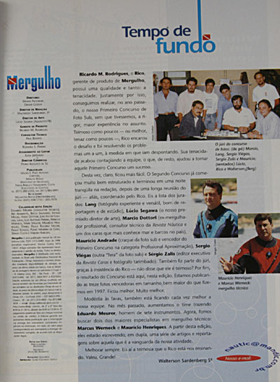 Revista Mergulho Nº24 - Maio de 98
