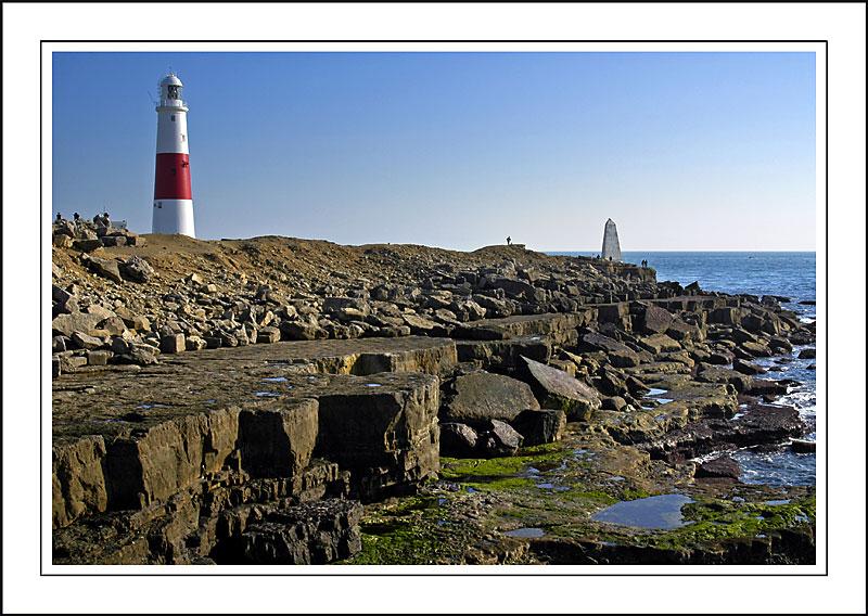 Rocks and lighthouse, Portland Bill, Dorset