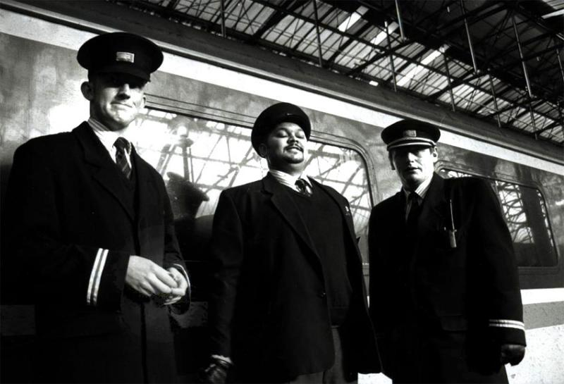 Portrait of Rail Guards in Manchester Piccadily station 1995