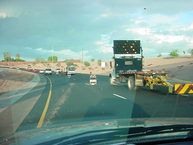 ADOT at work <br> 202 eastbound