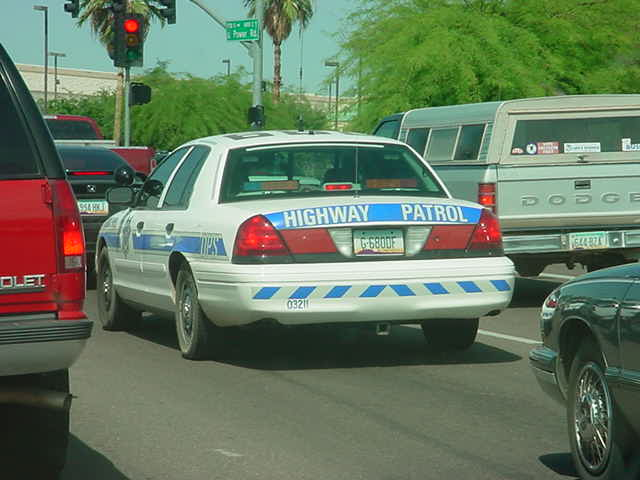 Highway Patrol<br>going to the freeway
