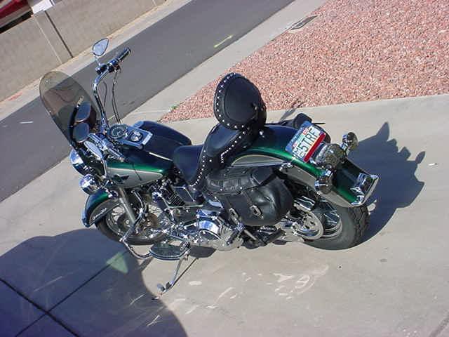 Harley at an angle
