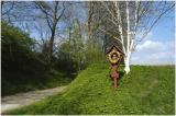 Veldkruis en holle weg in Bruisterbosch bij Margraten