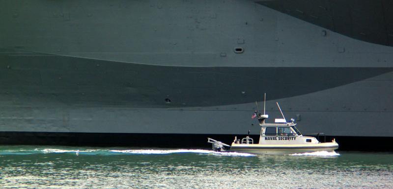 USS Midway and Friend, San Diego, California, 2004