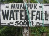 Manduk waterfall sign