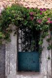 Blue door to the garden