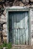 Blue door with rope