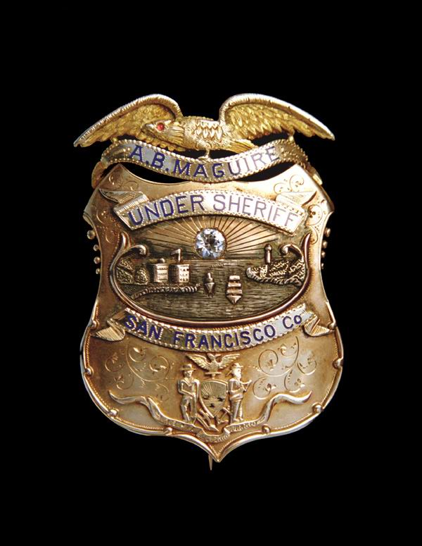 custom made sf undersheriff badge with diamond