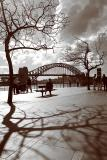 Harbour Bridge in sepia