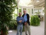 Dann & Bill in the greenhouse at the ranch