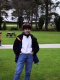 Sue Wilson in front of Blair Castle.