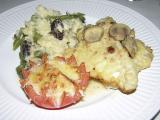 Chicken Scallopine - Asparagus - Mushroom Risotto - Broiled Parmesan Tomato by ISU kitchen crew DSCN1135.jpg