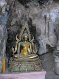 Buddha Statue in a Cave