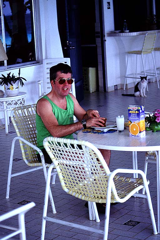Glenn Eating Breakfast