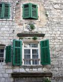 Facade of house in Kotor Old Town