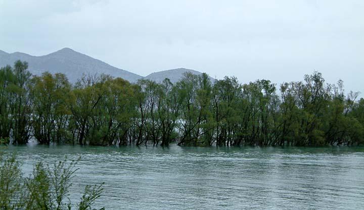 River Moraca in flood