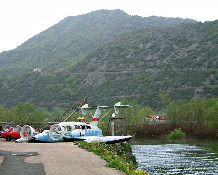 Rusting flying boat, Virpazar