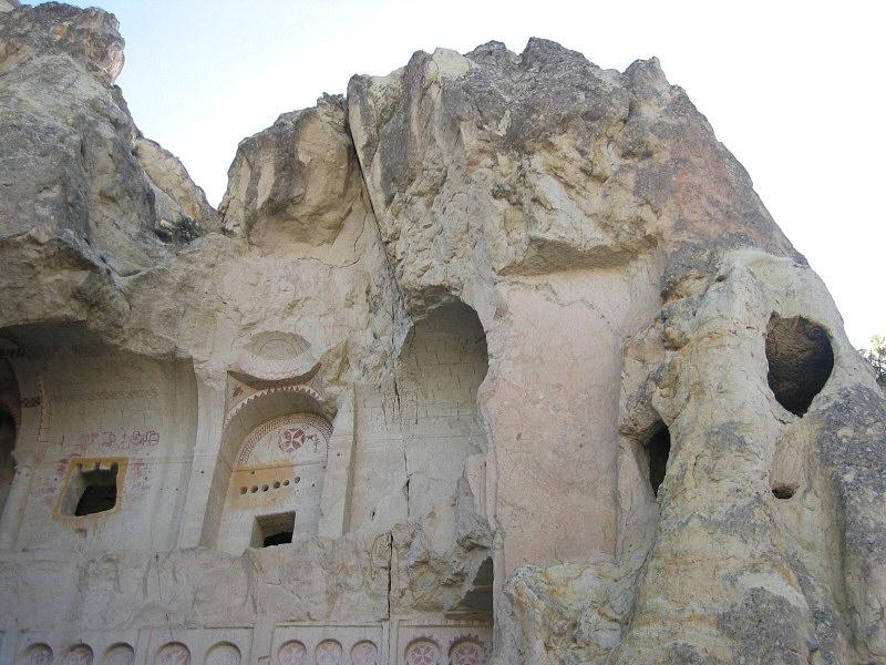 Entrance to Goreme Open Air Museums Karanlik (cave) Church in Cappadocia
