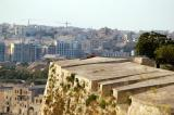 On top of the western ramparts, Valletta