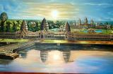 Painting of Angkor Wat sunrise