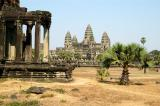 Angkor Wat and one of the two libraries