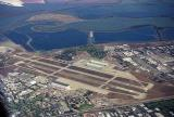 Moffet Field and airship hangars, San Francisco Bay