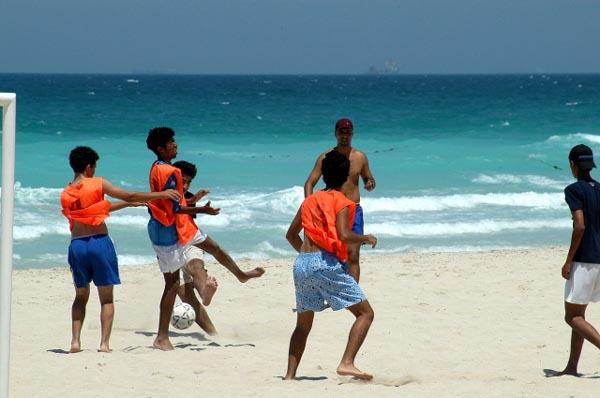 Football at Jumairah Beach Park