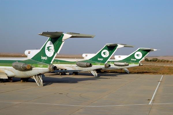 Iraqi Airways 727s at Amman, Jordan