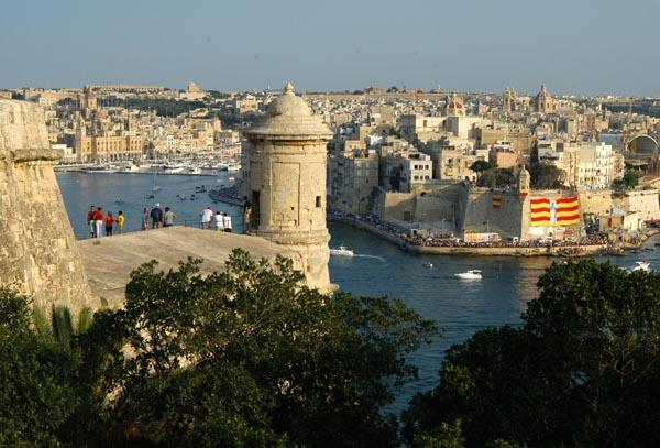 Grand Harbor from Valletta