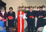 Participants - From Left - Sr. Vreni, Samira Nasswer, Bishop Riah and 2 Clergymen