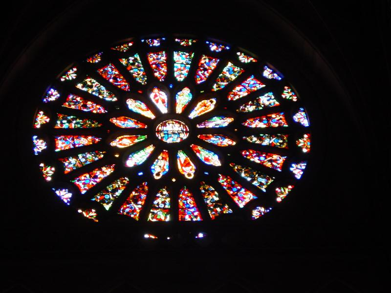 Stained glass in the cathedral.