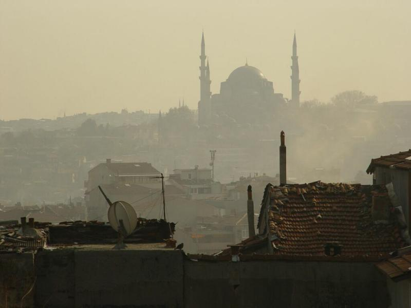 Istanbul from Selimiye Mosque 2003 12 11