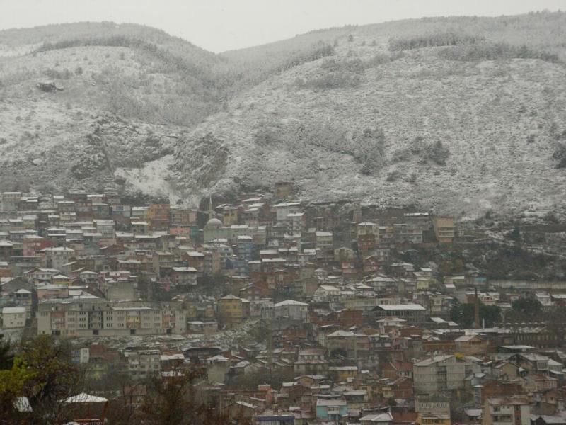 Bursa in snow