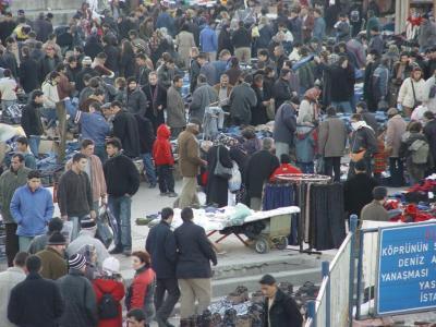 Istanbul Galata Bridge Streetmarket 2003 12 20