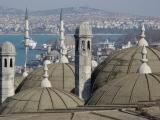 Istanbul from Süleymaniye towards Yeni or New Mosque