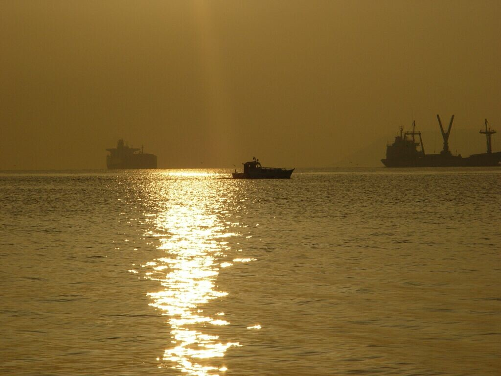 Çanakkale walk at sunset