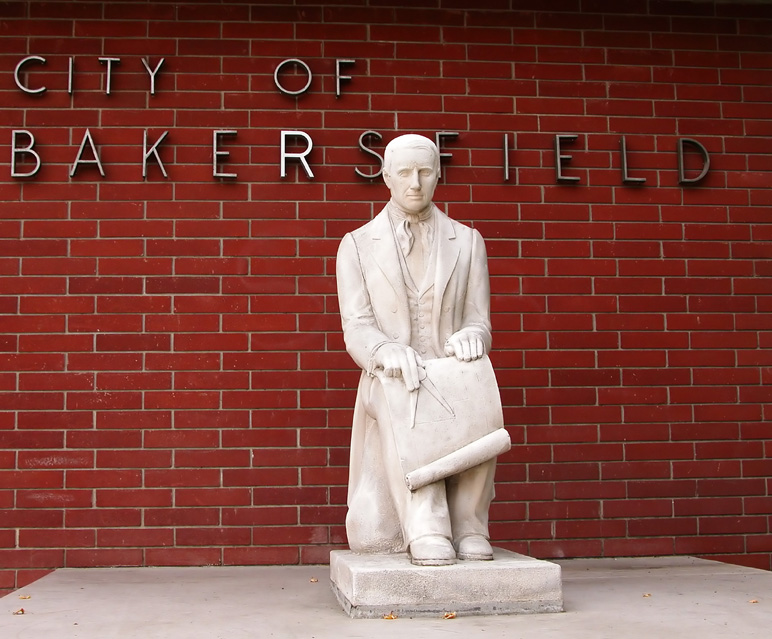 Statue of Colonel Baker, founder of Bakersfield