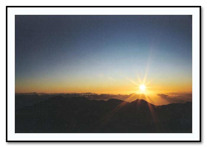 Sunrise - Haleakala Crater, Maui