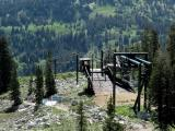 Ski Lift Below Lake
