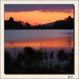 Lake Katzensee at Sunset