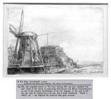 Rembrandt drawing of mill