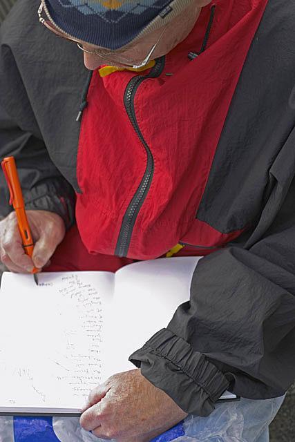 John drawing in Dam Square