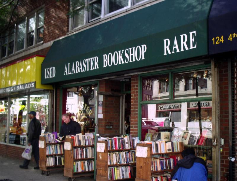 Alabastor Bookshop on 4th Ave below 13th Street