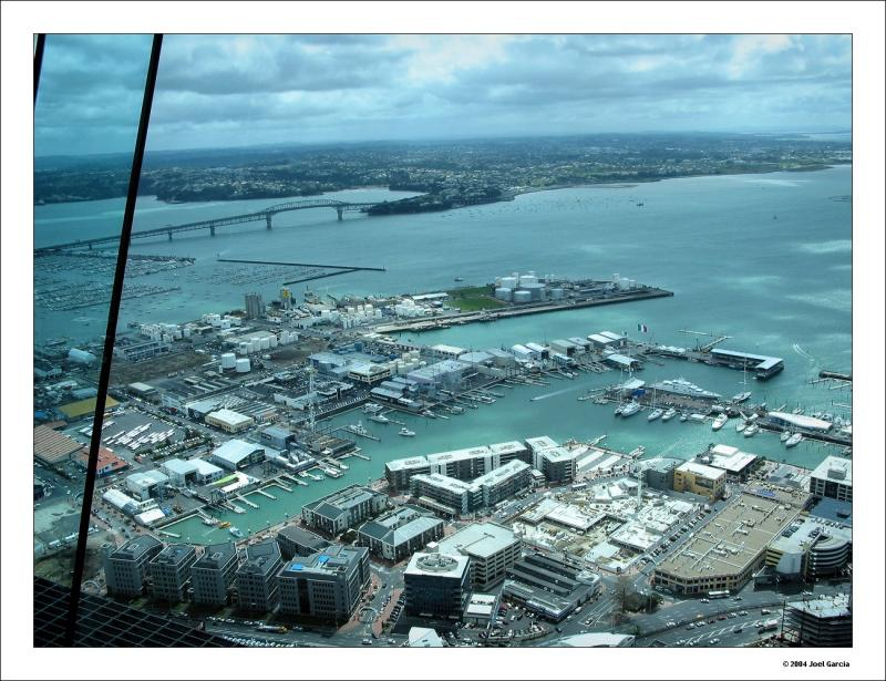 View of the Americas Cup bays from the tower