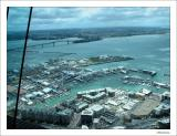 View of the America's Cup bays from the tower