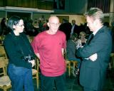 Nancy and John talking to Peter Tollenaar, the double bass player of the Rotterdams Kamerorkest
